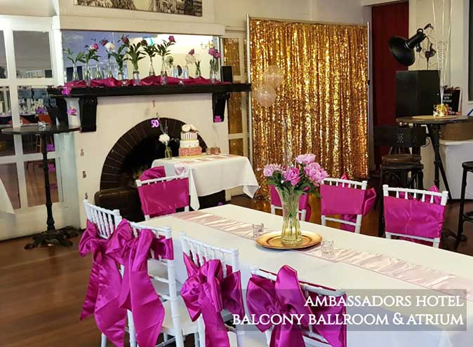 Ambassadors Hotel: Balcony Atrium – Venue Hire