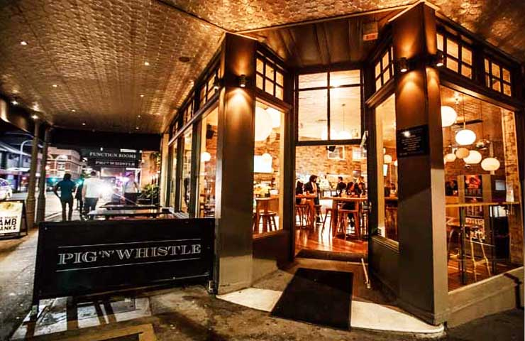 pig -N-Whistle-Bar-Restaurant-CBD-Brisbane-dinner-romantic