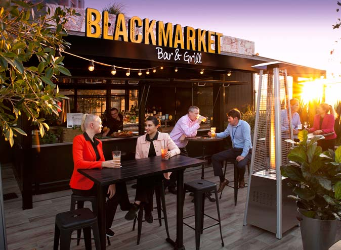 Blackmarket Bar & Grill – Rooftop Bars