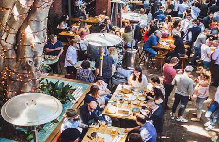 The Sheaf aperol rooftop bar aperol spritz drinks food music live party whats on sydney double bay events