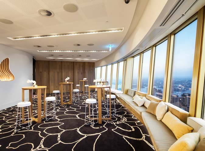 studio sydney tower function event space venue hire unique food wine weddings view tall building 2