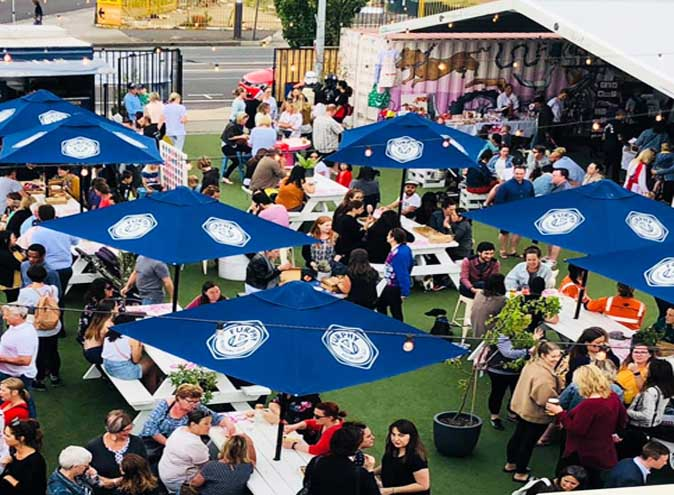 ascot lot beer garden