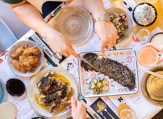 Kongbbq restaurant melbourne restaurants richmond events at cbd event ribs wings korean japanese fusion meatlover asian bbq dessert miso 5