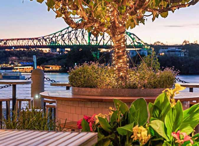 Riverbar Kitchen Restaurant Brisbane Dining Waterfront Lush Bar Green CBD Best Top Venues Good Popular Date Spot 3