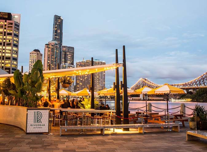 Riverbar Kitchen Restaurant Brisbane Dining Waterfront Lush Bar Green CBD Best Top Venues Good Popular Date Spot 9