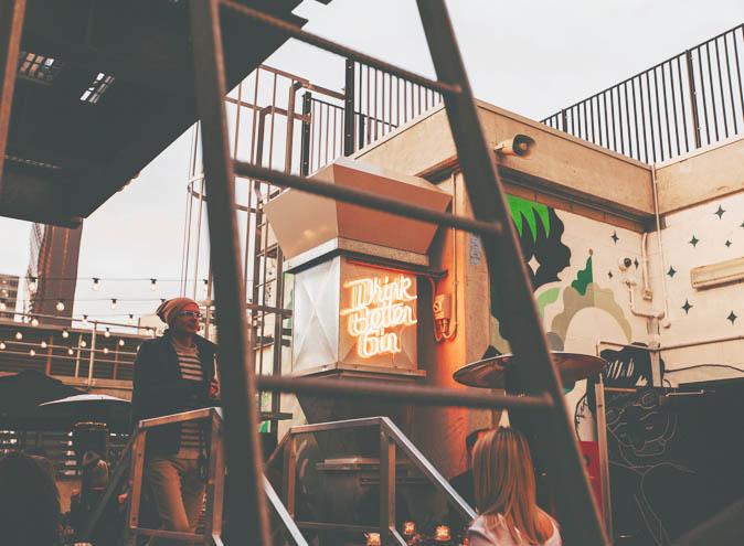Secret Garden Bar QT Four Pillars gin rooftop bars cocktails best food restaurant restaurants date night Melbourne CBD 002