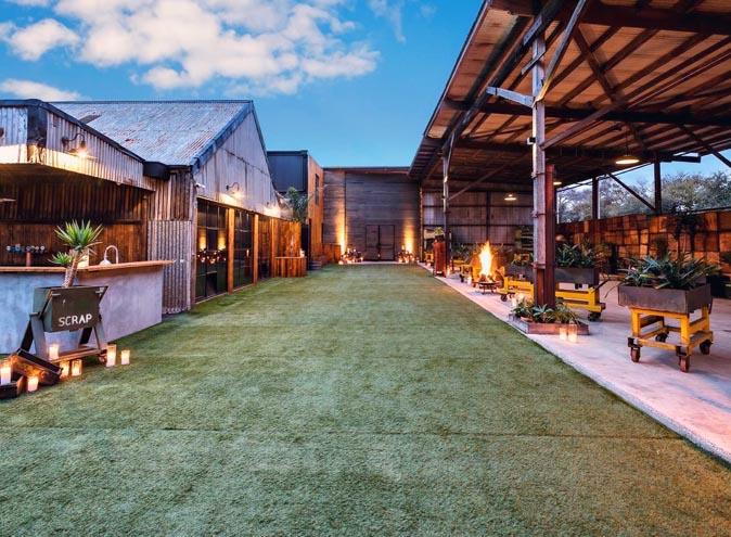 The Timber Yard function rooms Melbourne venues Port venue hire large warehouse outdoor wedding reception engagement performance show good big 004 3