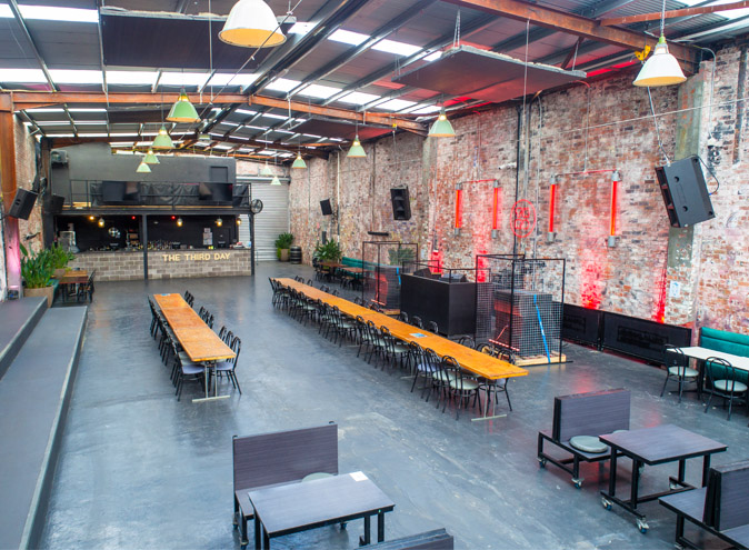 Third Day Warehouse Function Venues Melbourne Rooms Venue Hire Rooms Party Warehouse Unique Large Birthday Corporate Cocktail Dance Event Blank Canvas 009