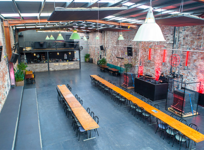 Third Day Warehouse Venue Hire North Melbourne Rooms Function Venues Party Warehouse Unique Large Birthday Corporate Cocktail Dance Event Blank Canvas 008